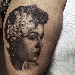 Billie Holiday portrait by Jamie Mahood. #blackandgrey #realism #JamieMahood #portrait #BillieHoliday