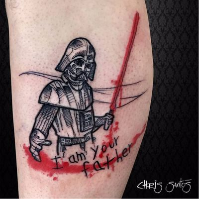 #ChrisSantos #starwars #tatuadoresdobrasil #nerd #geek #filmes #movies #darthvader #lightsaber #sabredeluz
