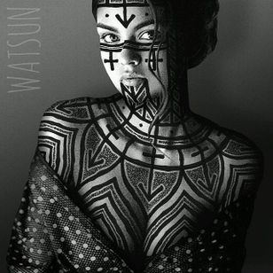An intriguing piece full of vectors by Watsun Atkinsun (IG—watsunatkinsun). #blackwork #fineart #illustrations #IlluminatedTrasformations #multimedia #ornamental #WatsunAtkinsun