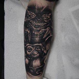 Gizmo Tattoo by Edgar Ivanov #Gizmo #BlackandGrey #BlackandGreyRealism #BlackandGreyTattoos #PortraitTattoos #Realism #EdgarIvanov