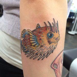 Pufferfish Tattoo by James Eastewood #pufferfish #fish #sealife #JamesEastwood