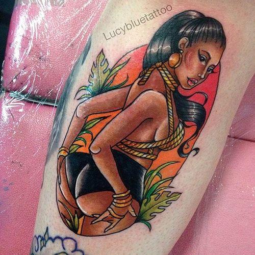 Nicki Minaj pin up lady by Lucy Blue. #LucyBlue #pinkwork #pinup #lady #girly #nickiminaj