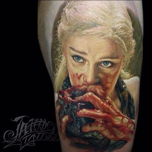 Daenerys Targaryen via @jamestattooart #jamestattooart #portrait #realism #DaenerysTargaryen