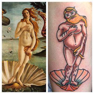 Big boy pin up tattoo by Jamie August. #JamieAugust #pinup #bigboypinup #man #pinupman #trad #traditional #traditionalamerican
