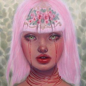 """Charlotte"" via @relmxx #Relm #ARTSHARE #painting #fineartist"