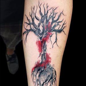 By Chris Santos. #ChrisSantos #arvores #trees #folhas #leafs #TatuadoresDoBrasil