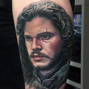 Jon Snow Tattoo by Evan Olin #Evanolin #jonsnowtattoo #gameofthronestattoo #winteriscoming