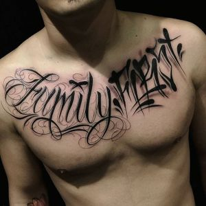 Lettering Tattoo by Web MC #lettering #script #chicano #classiclettering #WebMC