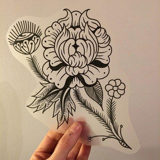 Funky flower flash, by Elle Donlon. (via IG—elledonlon) #ElleDonlon #UpAndComing #Traditional #Weird
