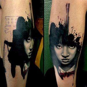 Gogo tattoo by Jacob Pederson. #blackandgrey #JacobPederson #portrait #gogoyubari #killbill #movie #film #cultfilm #popculture