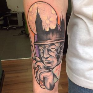 Jack the Ripper tattoo by thunderswan_tattoos. #JacktheRipper #serialkiller #history #england #london #killer