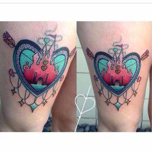 Disneyland tattoo by Sarai Tapia. #disney #disneyland #castle #waltdisney #SaraiTapia