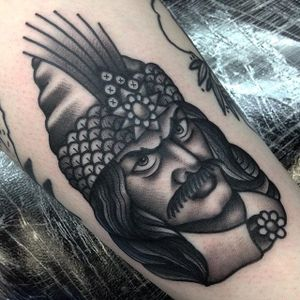 Blackwork Tattoo by Jack Peppiette #blackwork #traditionalblackwork #VladTheImpaler #JackPeppiette
