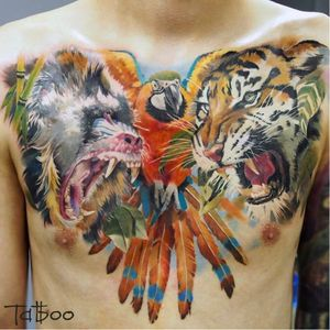 #macaco #monkey #tigre #tiger #ValentinaRyabova #realismo #hiperRealismo #tatuadoraRussa #talentoGringo #brasil #portugues