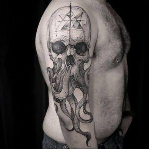 #caveira #skull #tentaculos #polvo #octopus #AndreFelipe #TatuadoresDoBrasil #ilustrador #aquarela #watercolor #talentonacional #brasil