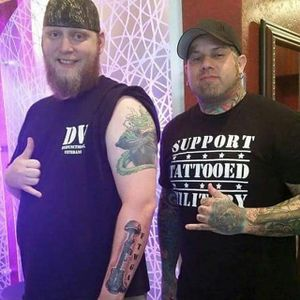 Lewis Hunt and Ryan Eternal after his session (via IG-operationtattooingfreedom) #veterans #tattootherapy #ptsd #anxiety #depression #OperationTattooingFreedom