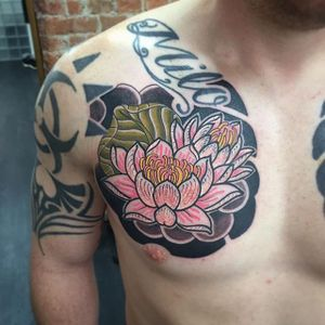 Lotus Tattoo by Mauro Cardoso #lotus #japaneselotus #japanese #japaneseartist #classicjapanese #asian #modernjapanese #neojapanese #MauroCardoso