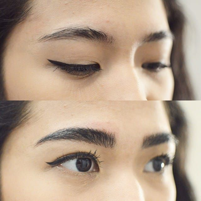 Microblading before and after, Image Source: Shaughnessy Keely #cosmetics #eyebrows #Microblading #consmetictattooing