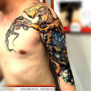 #polvo #octopus #MarianaAmaral #MarianaAmaralTattoo #aquarela #watercolor #TatudoresDoBrasil #Tatuadora #brasil