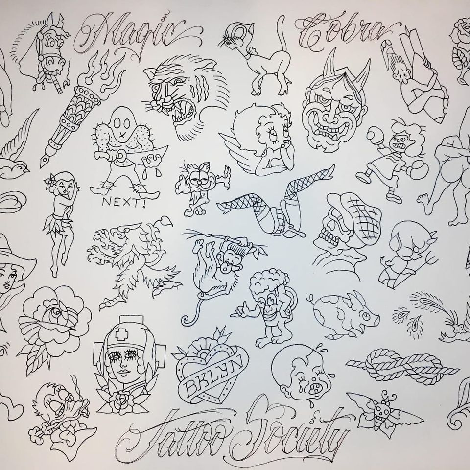This Year's Friday the 13th Flash by Magic Cobra Tattoo (via IG-magiccobratattoo) #flash #FridayThe13th #nyc #magiccobra
