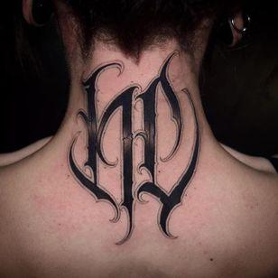 HC Lettering Tattoo by Gabri #lettering #lettering #script #blacklattering #blackwork #blckwrk #GabriL