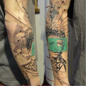 Graphic Arthur Rimbaud inspired tattoo by Xoil #ArthurRimbaud #Rimbaud #Hongdam #poet #literature #Xoil #graphic