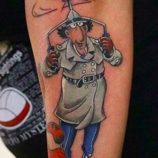 Inspector Gadget by Steve Hanley (via IG --backinktime) #stevehanley #inspectorgadget #inspectorgadgettattoo
