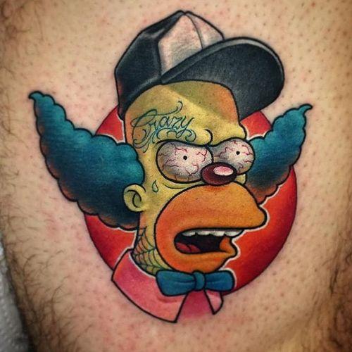 Krusty Tattoo by Keros #krustytheclown #krusty #clown #cartoonclown #thesimpsons #simpsons #Keros
