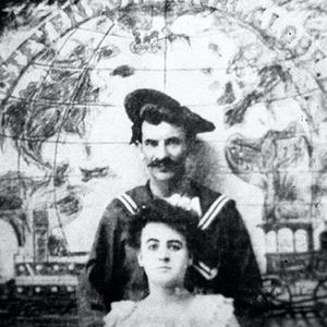 Maud and Gus Wagner together when they were young. #firstfemaletattooist #history #MaudWagner #tattoopioneer #UnitedStates