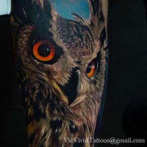 Owl tattoo #VicVivid #realism #owl