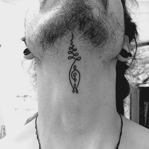 Unalome tattoo by Jack Maden. #unalome #sacredgeometry #symbol #subtle