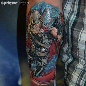 Thor Tattoo by Troy Slack #superhero #Marvel #TroyStark #Thor