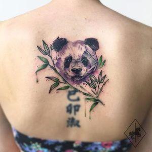 Panda Tattoo by Jason Adelinia #panda #watercolorpanda #watercolor #watercolorartist #JasonAdelinia