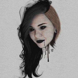 Arte por Tezoouro! #Tezoouro #Artistasbrasileiros #digitalartist #graphicdesigner #artistadigital #designergrafico #ilustração #illustration #dark #girl #darkgirl