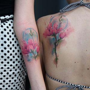 (via IG - skazxim) #PauloVictorSkaz #watercolor #freeform #flower