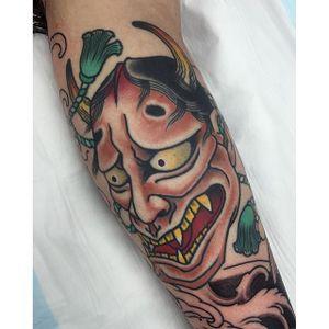 Hannya Tattoo by Alexander Rusty Cairns #hannya #Japanese #mask #AlexanderRustyCairns