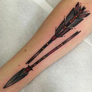 Broken Arrow Tattoo by Jeroen van Dijk #brokenarrow #brokenarrowtattoo #traditionalarrow #traditionalworld #traditional #traditionaltattoo #traditionaltattoos #traditionaltattooing #oldschool #oldschooltattoo #JeroenvanDijk