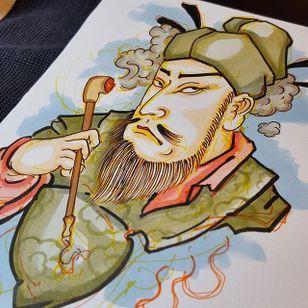 Emperor by Jan Willem #japanese #traditionaljapanese #irezumi #JanWillem