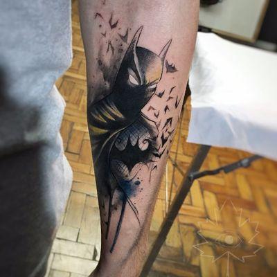 Kelvin Gabriel #KelvinGabriel #brazilianartist #tatuadoresdobrasil #brasil #brazil #watercolor #aquarela #batman #dc #comic superhero #hq #movie #filme #animação #nerd #geek #superhero #superheroi