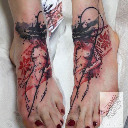 Abstract tattoo by Adine Tetovacky #AdineTetovacky #ornamental #graphic #pattern #abstract