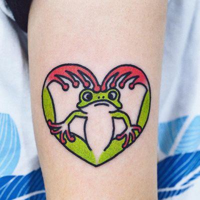 #WoohyunHeo #gringo #traditional #oldschool #colorido #colorful #funny #fun #divertido #sapo #frog #coração #heart