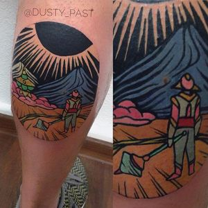 Other Worldly by Eugene Nedelko (via IG-dusty_past) #circle #landscapes #smalltattoo #colorful #eugenenedelko