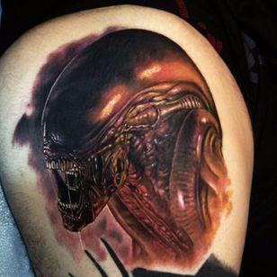 Um xenomorfo bem assustador de Alien (1979) #PaulAcker #StrangerThings #referencia #reference #alien #Xenomorph #xenomorfo #movie #filme #scify