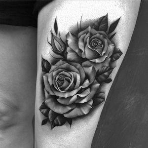 Timeless rose tattoos by Bobby Loveridge @bobbalicious_tattoo #black #blackandgray #churchyardtattoostudio #uk #rose