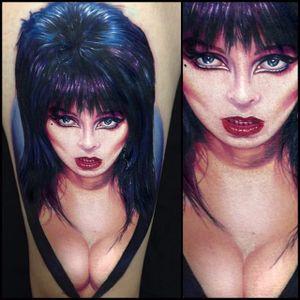 Never enough Elvira. (via IG - paulacker) #paulacker #horror #halloween #portrait #elvira