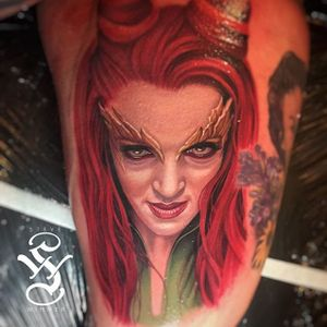 Batman and Robin may have been a terrible movie, but our heart always skips a beat for Uma. (Via IG - stevewimmer) #realism #portrait #stevewimmer #colorportrait #cultclassic #poisonivy #umathurman