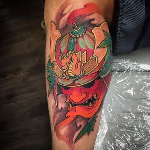 Kabuto Tattoo by Tristen Zhang #kabuto #japanese #neotraditional #neotraditionaljapanese #japaneseart #TristenZhang