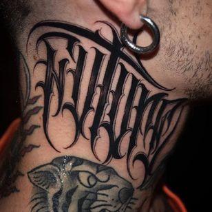 'Future' Lettering Tattoo by Gabri #lettering #script #blacklattering #blackwork #blckwrk #GabriL