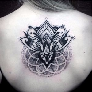 Blackwork Lotus Tattoo by Canyon Webb #lotus #lotusflower #lotustattoo #lotustattoos #blackworklotu #blackworklotustattoo #blackwork #blackworktattoos #CanyonWebb #linework #dotwork #btattooing #blckwrk