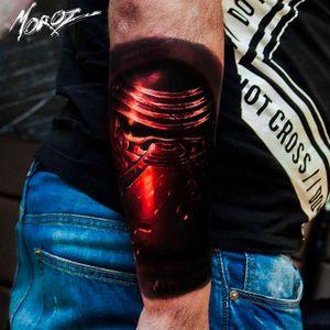 Kylo Ren tattoo by Alexey Moroz. #AlexeyMoroz #Tattoo @kyloren #starwars